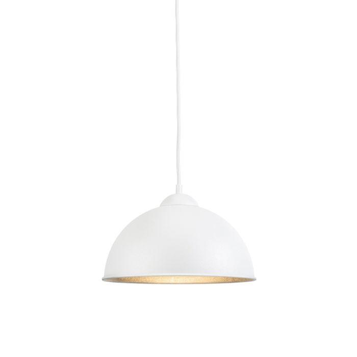 Moderne-ronde-hanglamp-wit---Magna-Basic