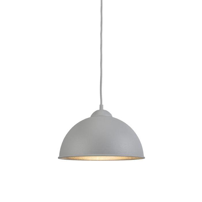 Moderne-ronde-hanglamp-grijs---Magna-Basic