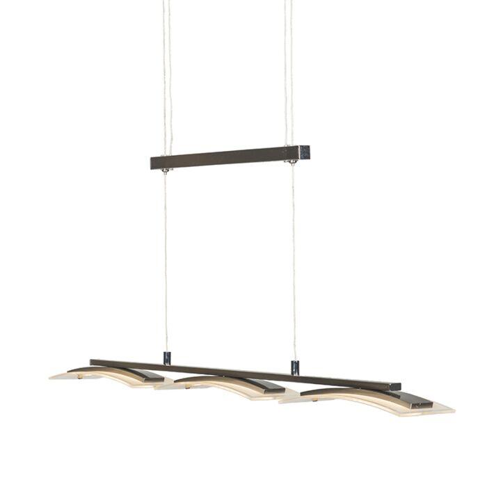 Moderne-hanglamp-staal-3-lichts-verstelbaar-incl.-LED---Hano