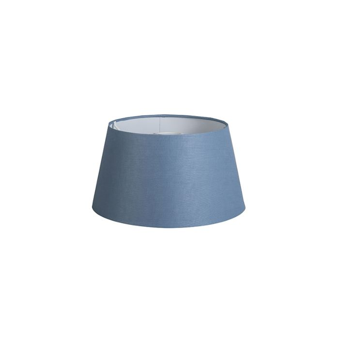 Kap-32cm-rond-DS-E27-linnen-blauw
