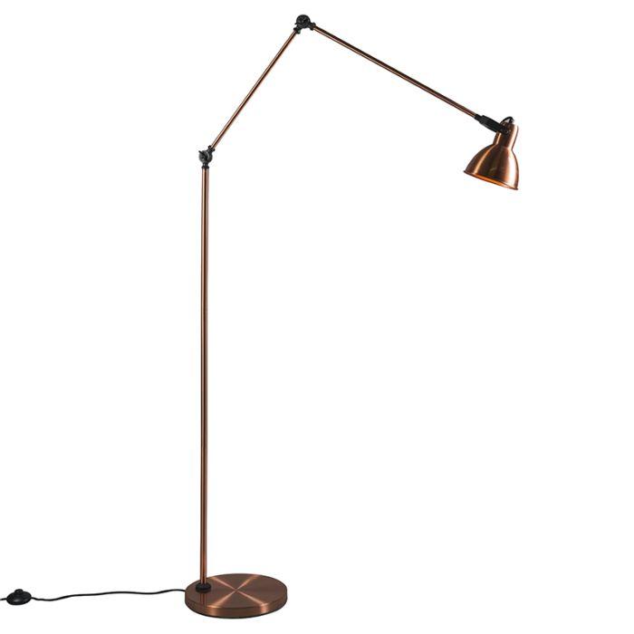 Vloerlamp-Dazzle-koper
