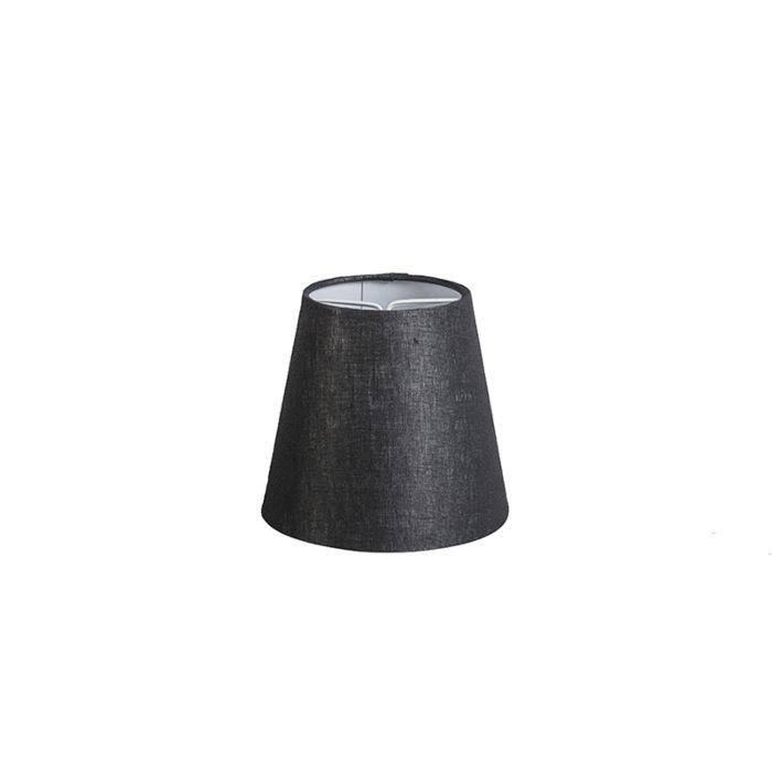 Linnen-klemkap-zwart-12-cm-rond