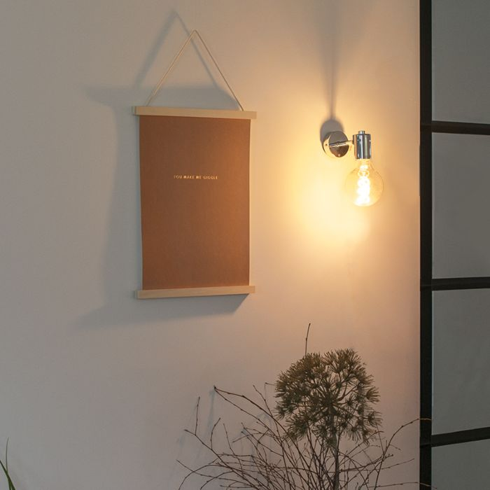 Moderne-wandlamp-chroom---Facil-1