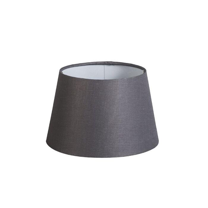Kap-20cm-rond-DS-E27-linnen-donkergrijs