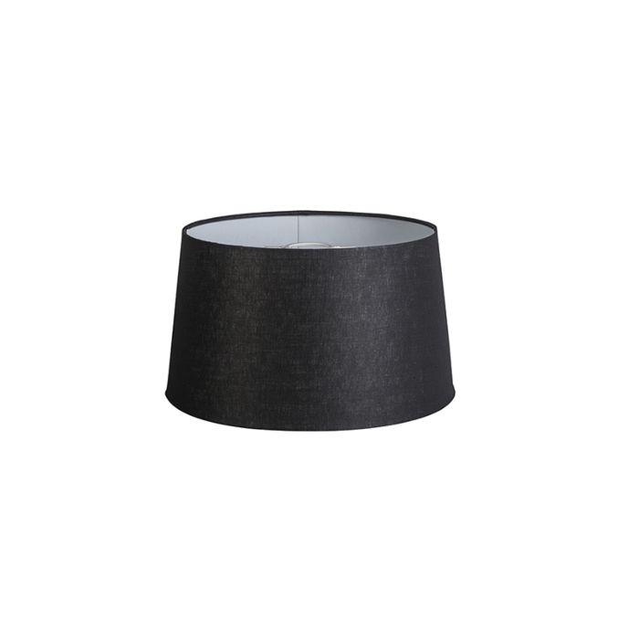 Linnen-lampenkap-zwart-35-cm