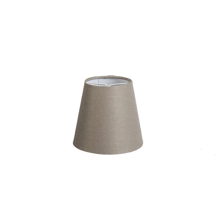 Klemkap-12cm-rond-SC-linnen-taupe
