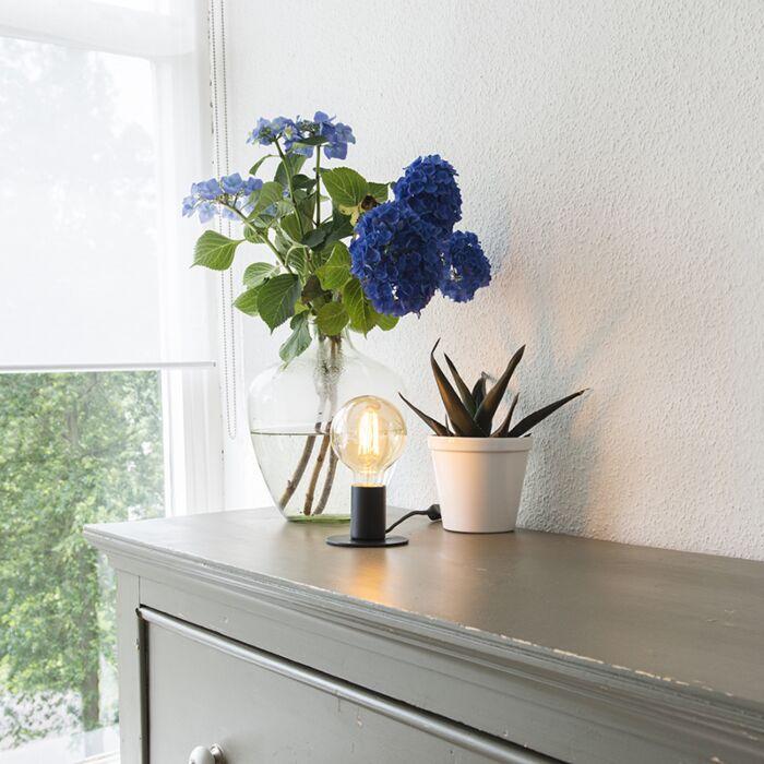 Moderne-tafellamp-zwart---Facil