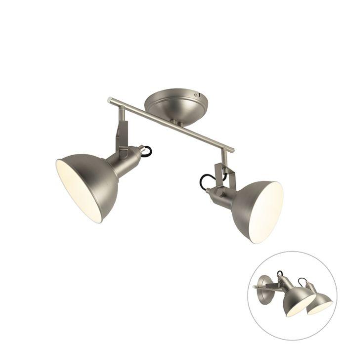 Plafondspot-staal-2-lichts-draai--en-kantelbaar---Tommy