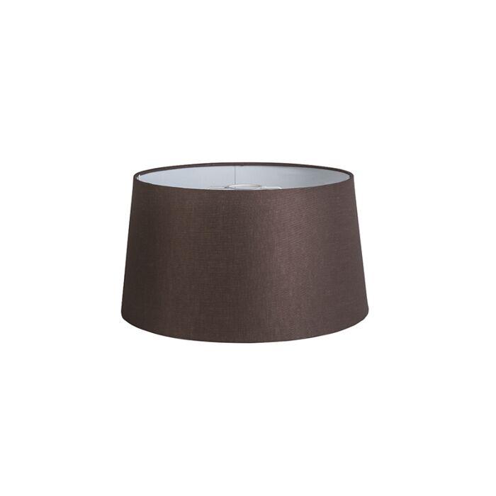 Kap-40cm-rond-DS-E27-linnen-bruin