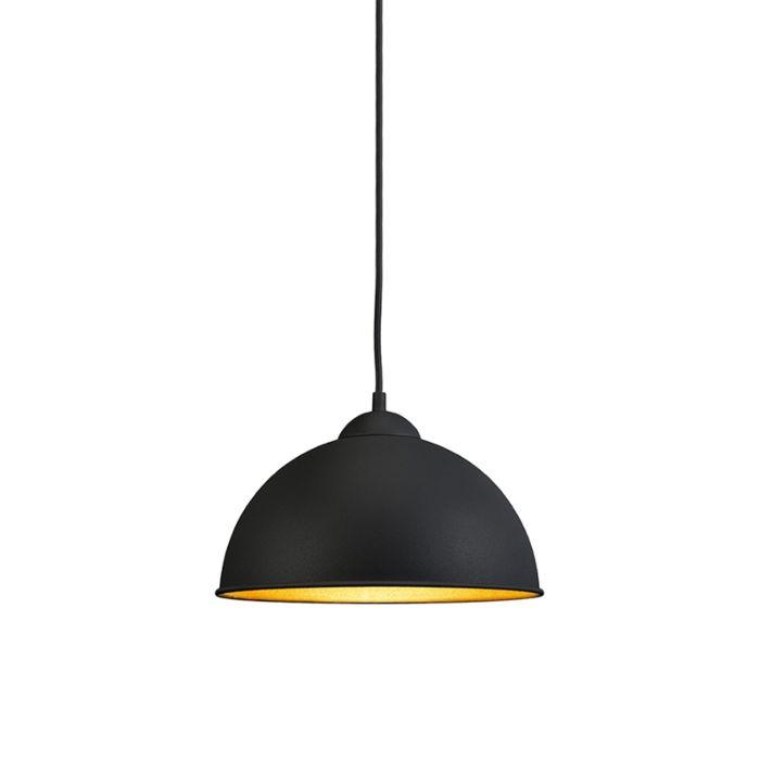 Moderne-ronde-hanglamp-zwart---Magna-Basic