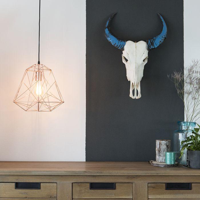 Industriële-hanglamp-koper---Framework-
