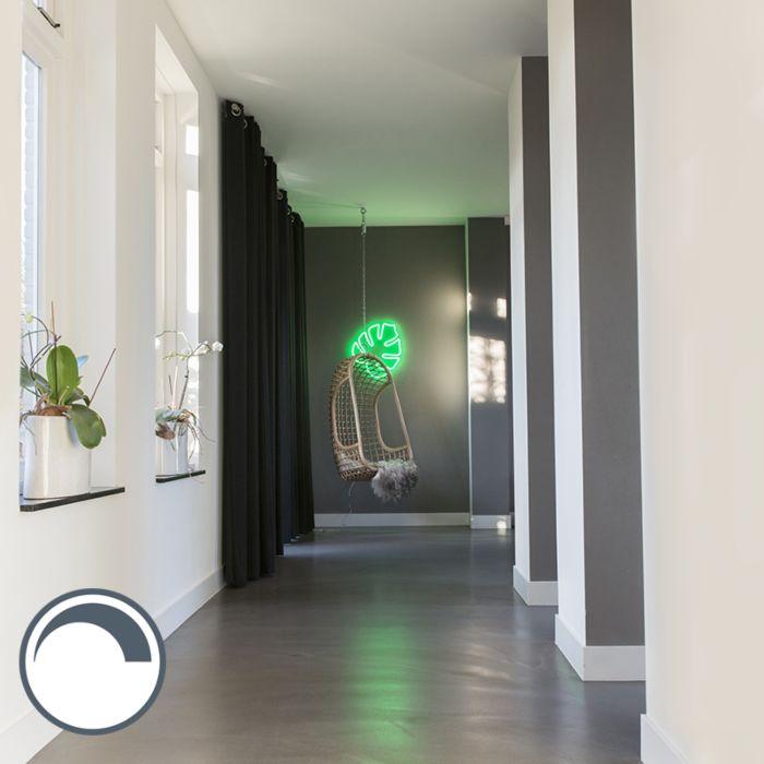 Wandlamp-Neon-blad-groen-dimbaar-met-remote