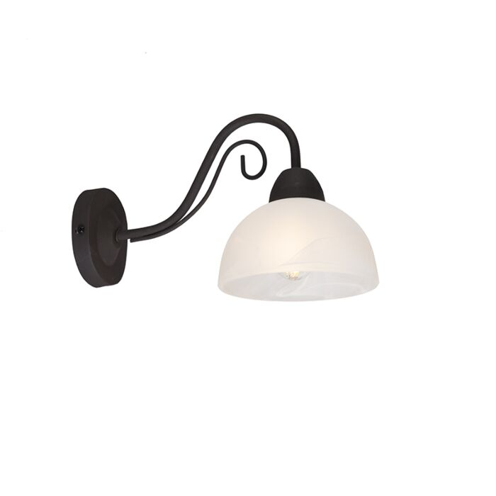 Landelijke-wandlamp-roestbruin-met-glas---Dallas