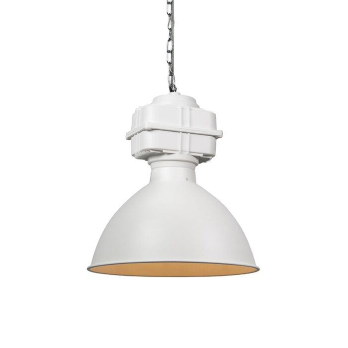 Industriële-hanglamp-klein-mat-wit---Sicko