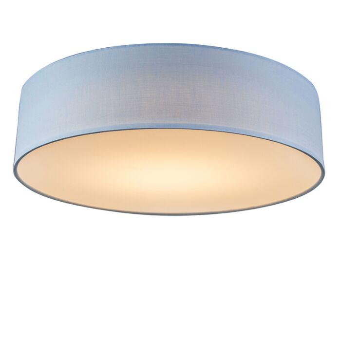 Plafondlamp-blauw-40-cm-incl.-LED---Drum-LED