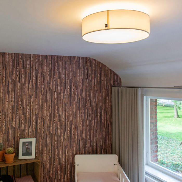 Plafondlamp-wit-40-cm-incl.-LED---Drum-LED