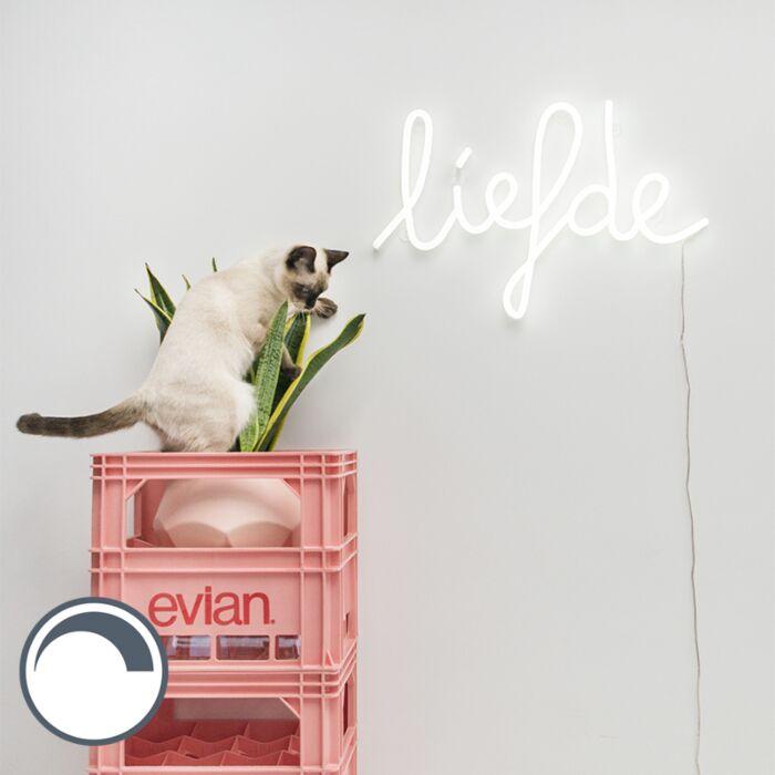Wandlamp-wit-met-afstandsbediening-incl.-LED---Neon-Liefde