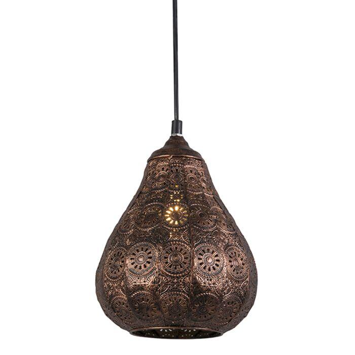 Vintage-ronde-hanglamp-koper---Billa