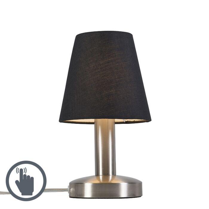 Tafellamp-Bello-zwart-Touch