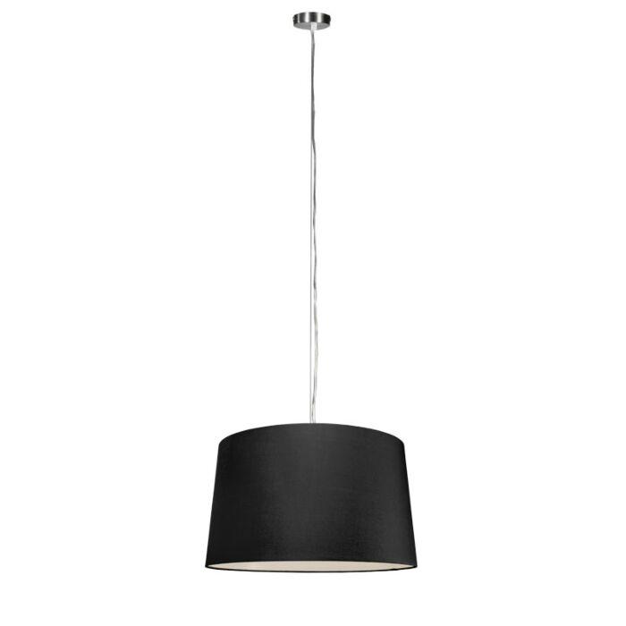 Moderne-hanglamp-staal-met-kap-45-cm-zwart---Cappo-1