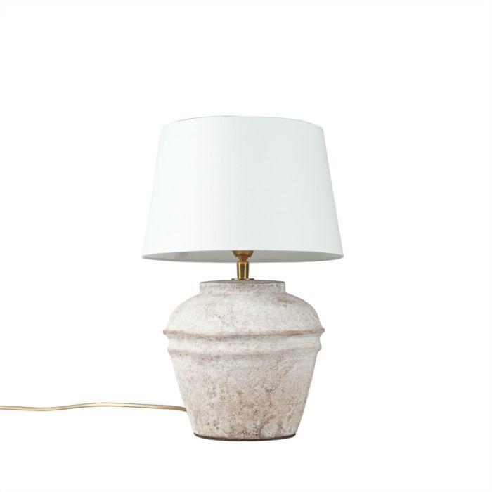 Tafellamp-Arta-XS-scotch-met-kap-25cm-wit