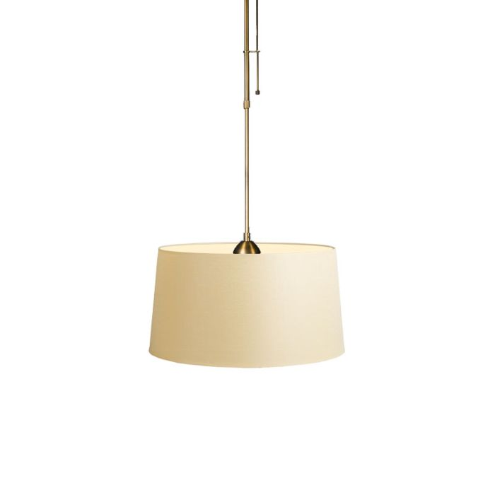 Hanglamp-Mix-1-brons-met-kap-45cm-creme