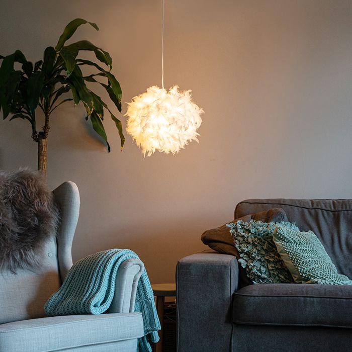 Landelijke-hanglamp-wit---Feather