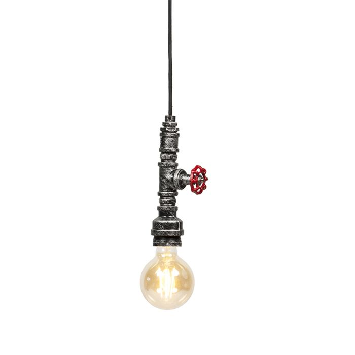 Industriële-hanglamp-zwart-zilver---Obo
