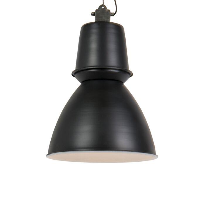 Industriële-grote-hanglamp-zwart---Giganta
