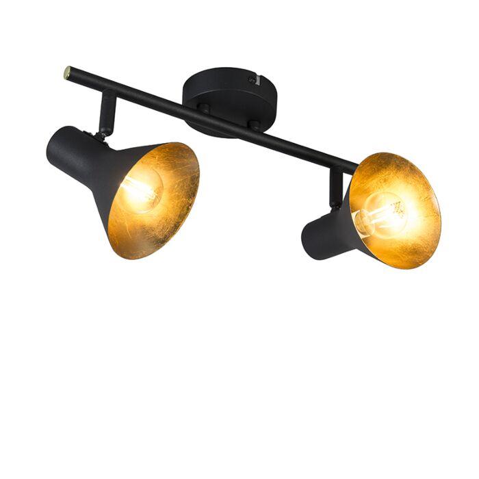 Moderne-spot-zwart-2-lichts---Magno