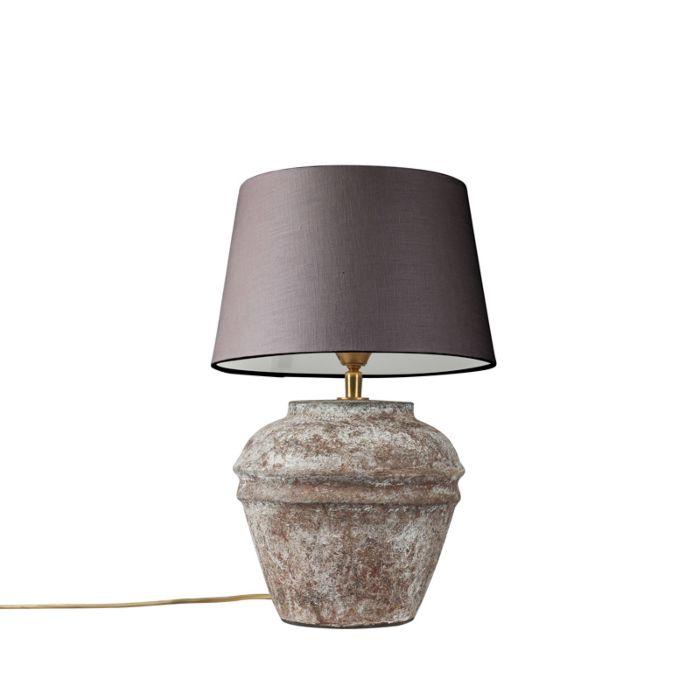 Tafellamp-Arta-XS-vintage-met-kap-25cm-bruingrijs