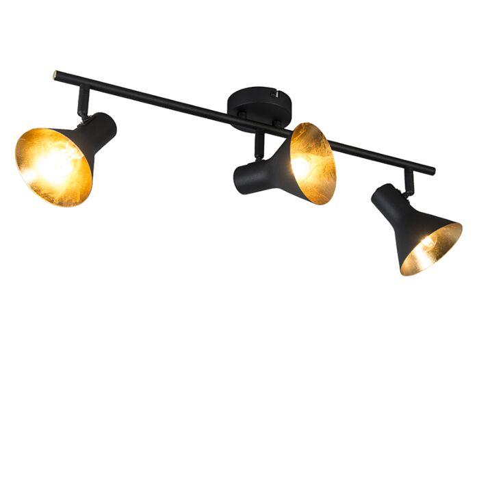 Moderne-spot-zwart-3-lichts-draai--en-kantelbaar--Magno