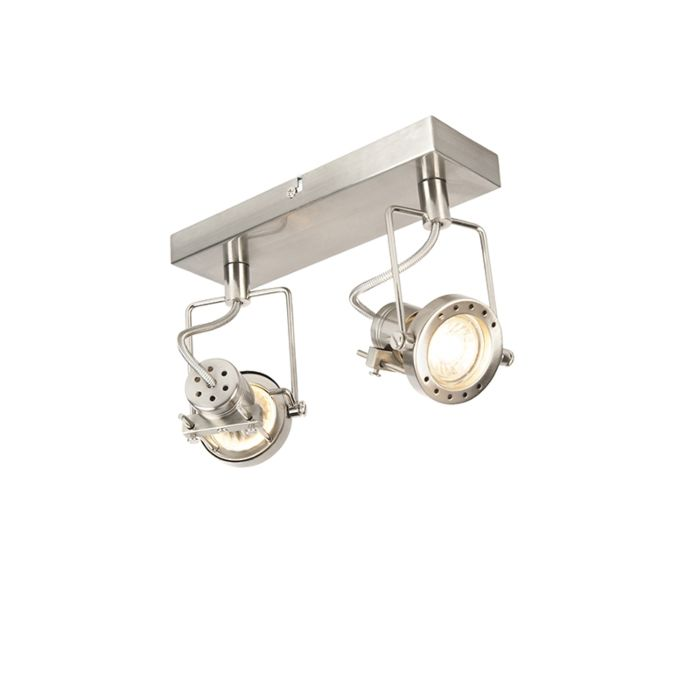 Industriële-spot-staal-2-lichts-draai--en-kantelbaar---Suplux