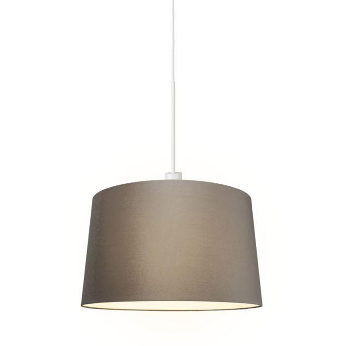 Moderne-hanglamp-wit-met-kap-45-cm-taupe---Combi-1