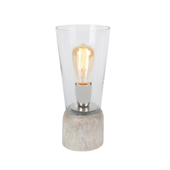 Tafellamp-Atif-helder-glas