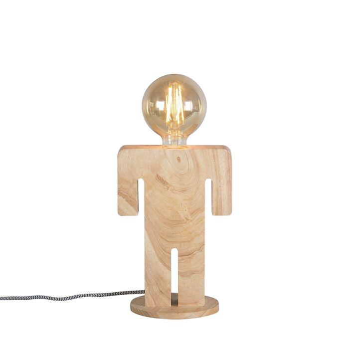 Landelijke-tafellamp-hout---Adam