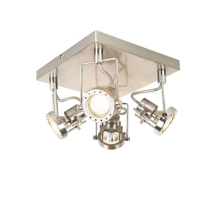 Industriële-spot-staal-4-lichts-draai--en-kantelbaar---Suplux