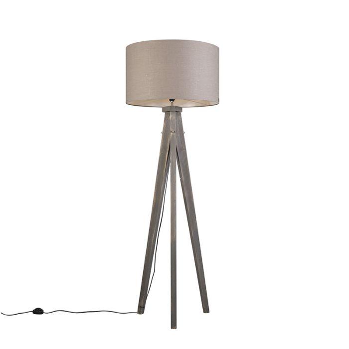 Vloerlamp-Karos-grijs-met-kap-55cm-oud-grijs