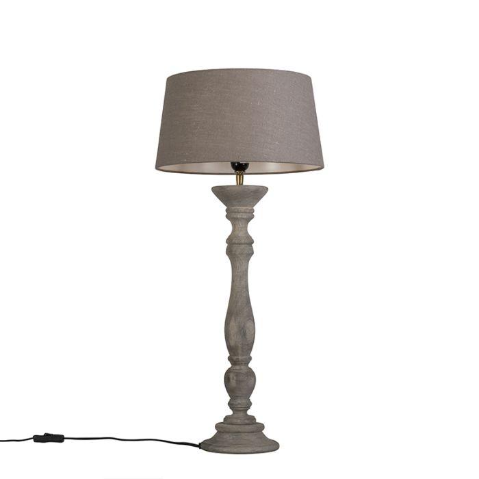 Tafellamp-Ritual-grijs-met-kap-35cm-oud-grijs