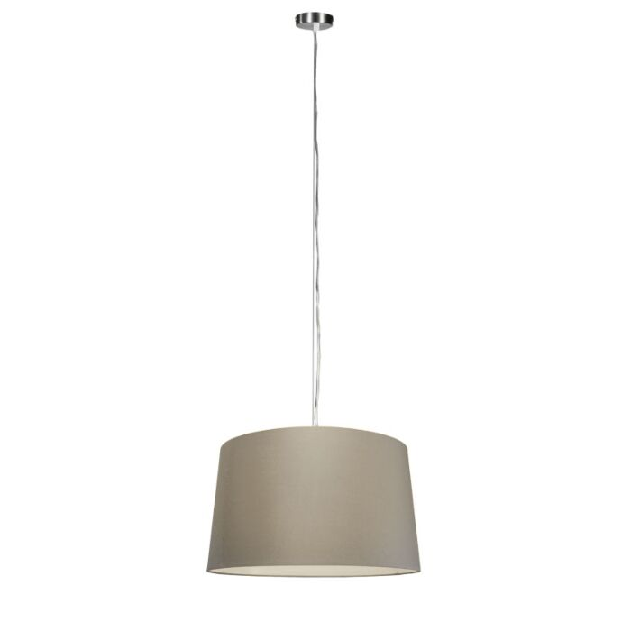 Moderne-hanglamp-staal-met-kap-45-cm-taupe---Cappo-1