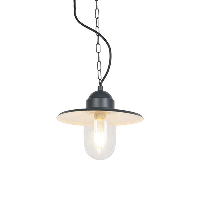 Landelijke-buiten-hanglamp-antraciet-IP44---Kansas-grafiet