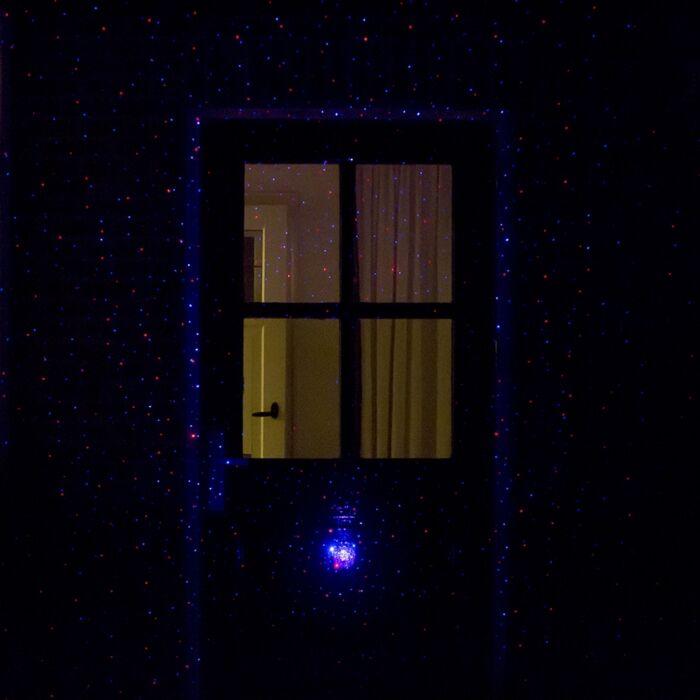 Kerstverlichting-Laser-projector-LED-rood-en-blauw-met-9-standen