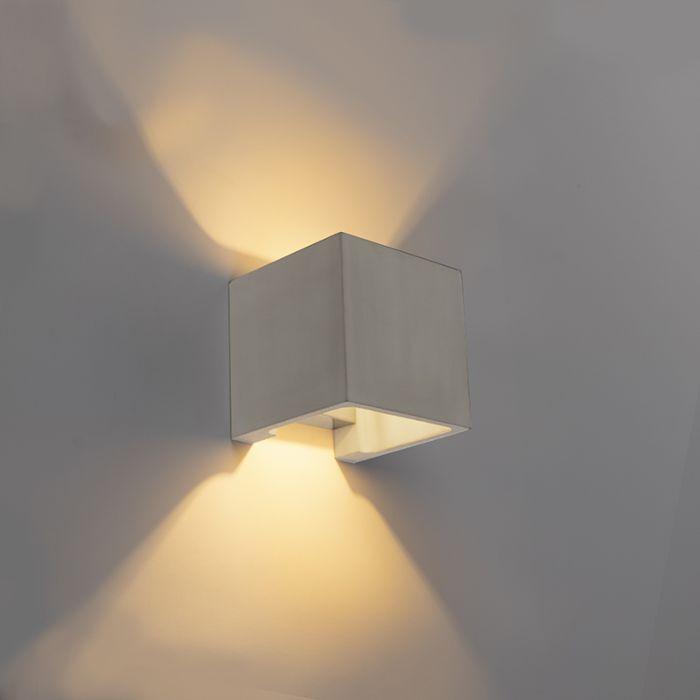 Landelijke-vierkante-wandlamp-beton---Alban