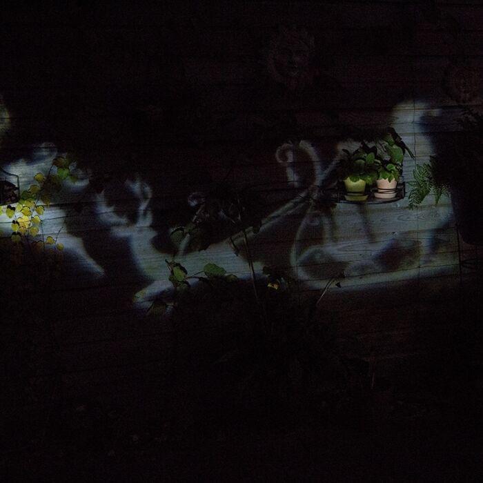 Kerstverlichting-Laser-projector-LED-wit-Kerstman-met-slee
