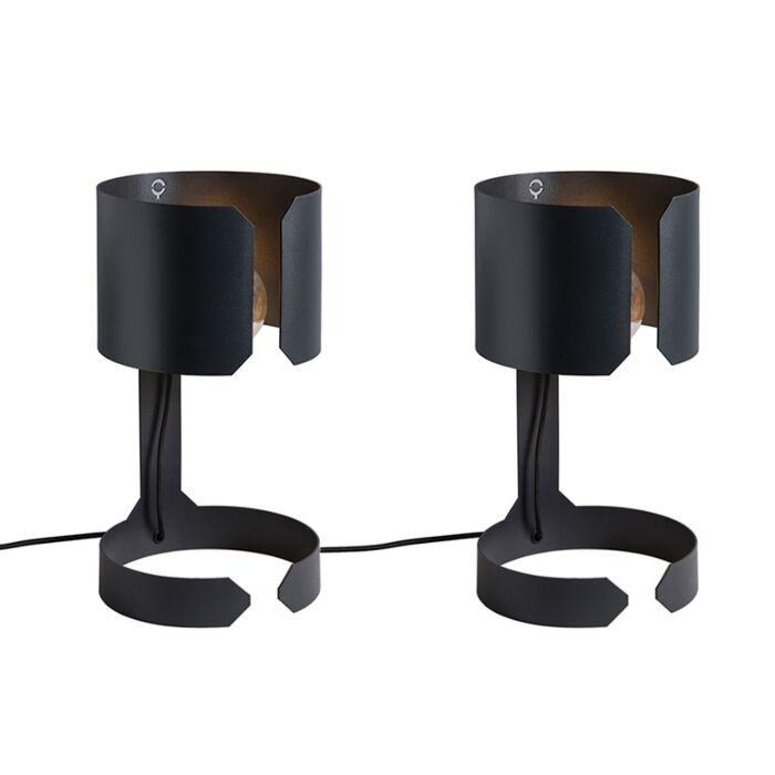 Set-van-2-tafellampen-Waltz-zwart