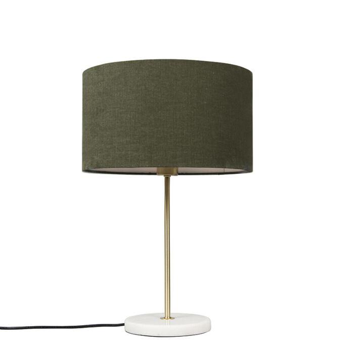 Tafellamp-messing-met-groene-kap-35-cm---Kaso