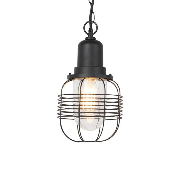 Landelijke-buitenhanglamp-zwart---Guardado