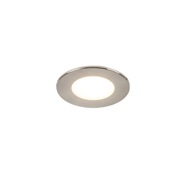 Moderne-inbouwspot-rond-staal-incl.-LED-IP65---Simply