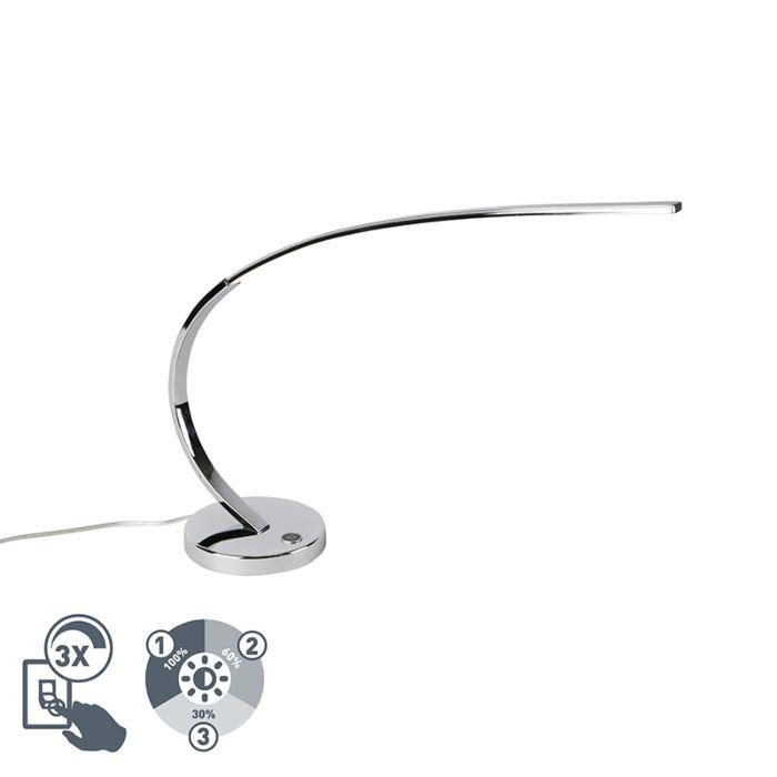 Design-tafellamp-chroom-incl.-LED-dimbaar---Chromo