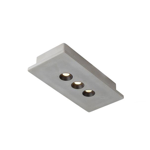 Industriele-rechthoekige-spot-beton-incl.-LED-3-lichts---Talas